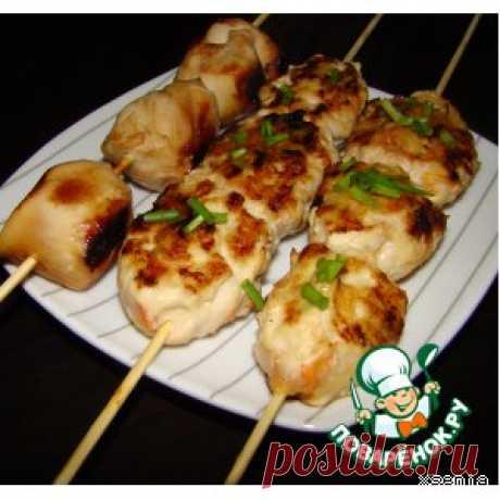 Курица по-японски на шпажках - кулинарный рецепт