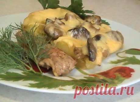 Маринованная свинина с грибами запеченная в духовке