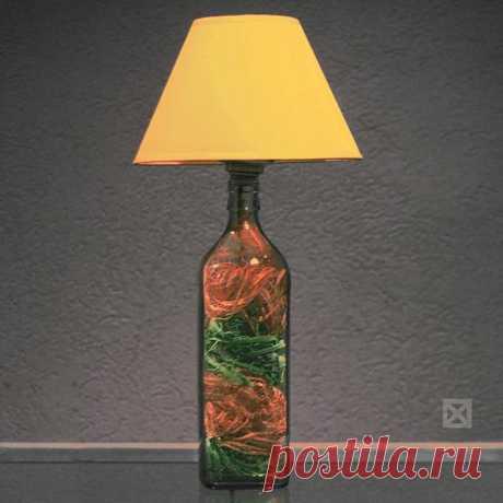 Лампы из бутылок виски | www.krasfun.ru