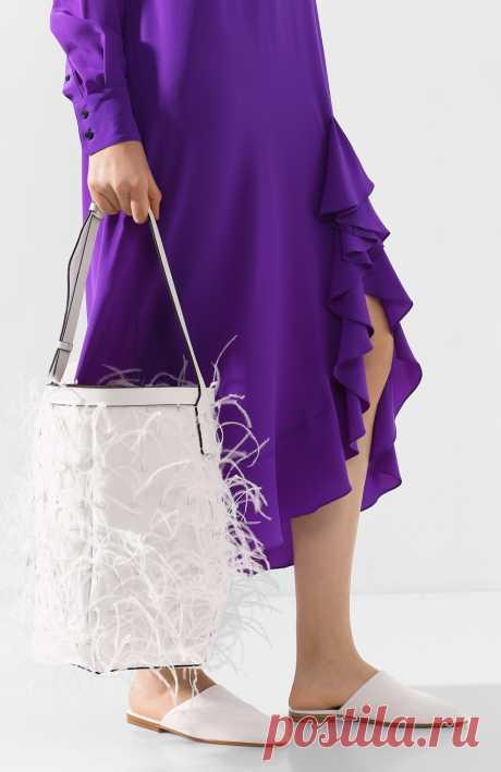 Женская белая сумка valentino garavani by your side VALENTINO — купить за 184000 руб. в интернет-магазине ЦУМ, арт. TW0B0G71/SEP