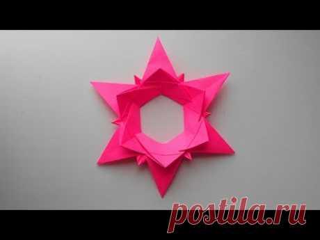 Рождественская звезда из бумаги. Оригами елочная игрушка своими руками - запись пользователя Getera (Александра Смирнова) в сообществе Новый год в категории Новогодний декор
