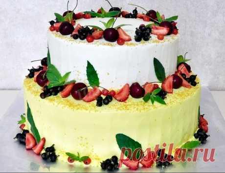 Двухъярусный домашний торт рецепт с фото - 1000.menu