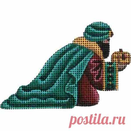 Small Nativity – Green Magi Adorable high-quality Small Nativity - Green Magi. The Needlepointer is a full-service shop specializing in hand-painted canvases, thread fibers, needlepoint books, accessories, needlepoint classes and much more.