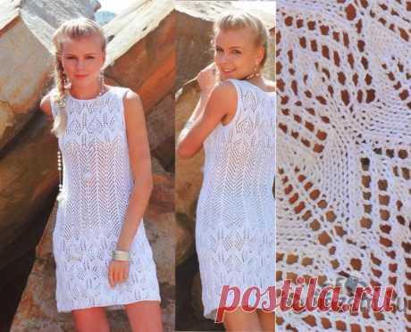 Женское платье крючком и спицами, а так же сарафаны со схемами