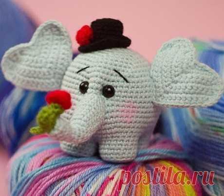 Слоник крючком, больше 30 схем вязания слона с пошаговым описанием