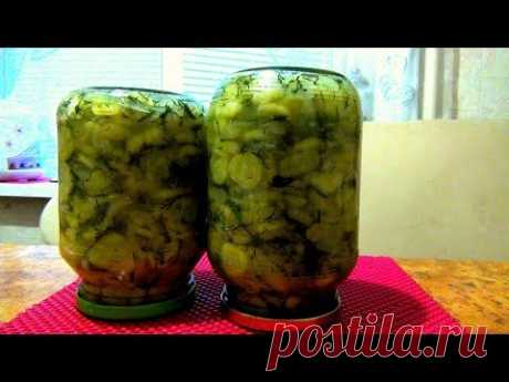 Салат из огурцов с луком. Заготовка на зиму. Консервация.