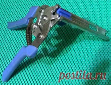 Скобообжимной инструмент для сборки клеток.Купить www.spasibo5.ru