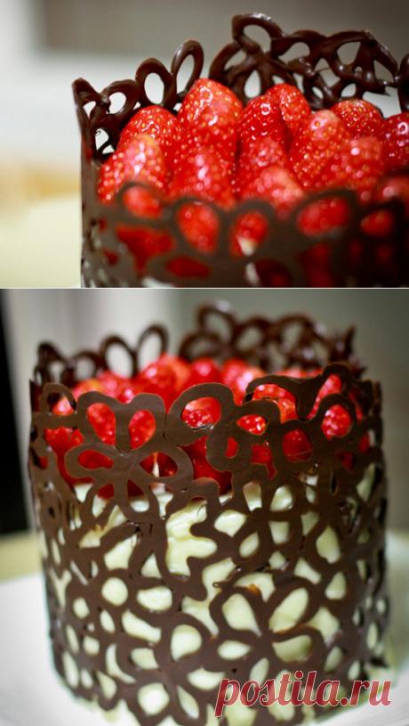Как сделать украшения из шоколада