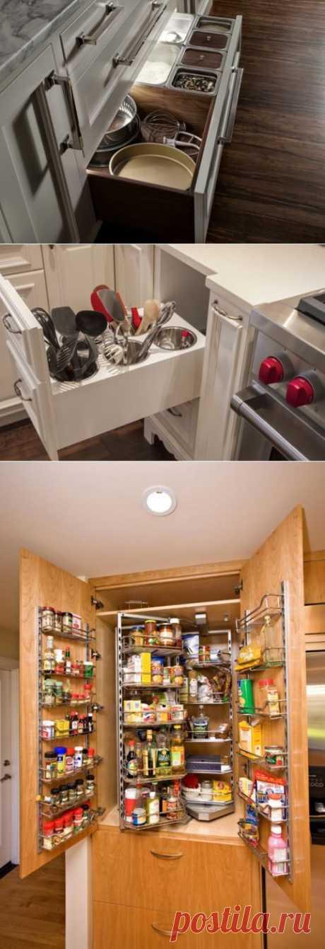 Способы организации кухонных ящиков   Роскошь и уют