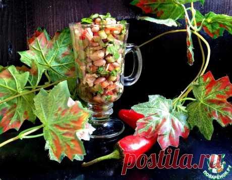 """Куриный салат с фасолью """"Теплая осень"""" – кулинарный рецепт"""