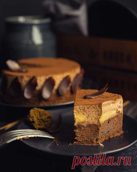 Brauni a share with bananas and chocolate mousse - Andy Chef - the blog about food and travel, step-by-step recipes, online store for confectioners