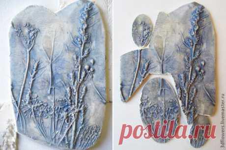 Оттиски растений и создание украшений с ними - Все о полимерной глине