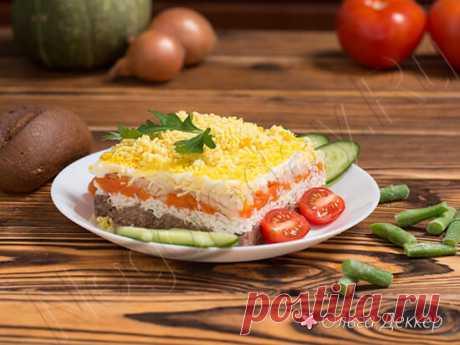 Салат мимоза с тунцом — отличный низкокалорийный вариант
