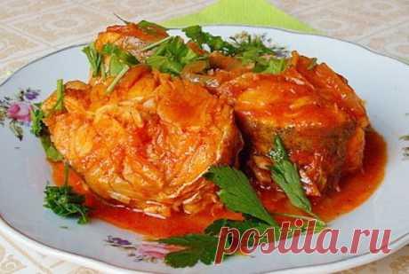 Как приготовить рыбу с овощами под томатным соусом 🚩 Кулинарные рецептыы
