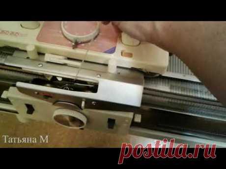 Silver reed SK561/SRP50 - круговое вязание на электронной вязальной машине