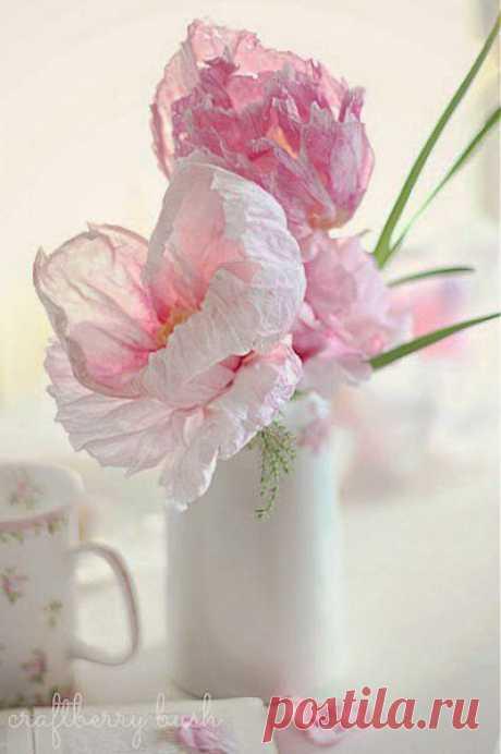 Как сделать цветы из гофрированной бумаги | Оригинальные идеи для творчества