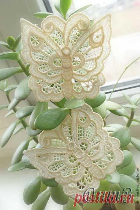 Вышивка, аппликация, ажурная бабочка нашивка, кружево – купить в интернет-магазине на Ярмарке Мастеров с доставкой - 3N0APRU   Москва