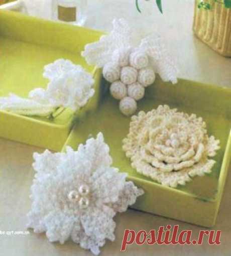 Вязание цветов крючком - вязание крючком на kru4ok.ru