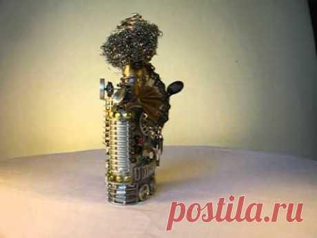Декоративная бутылка - робот Кармен или тетя Соня