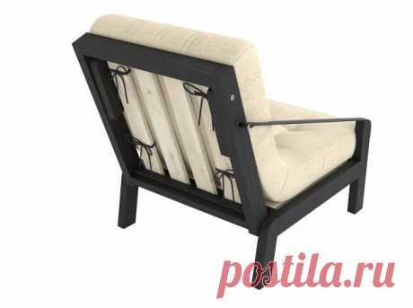 Кресло Локи Белая эмаль / Графитовый, рогожка купить в Москве в интернет-магазине «Первый Мебельный»