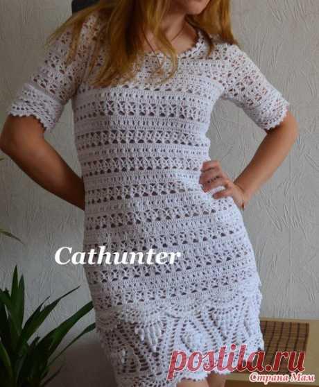 Платье или туника крючком с красивой каймой