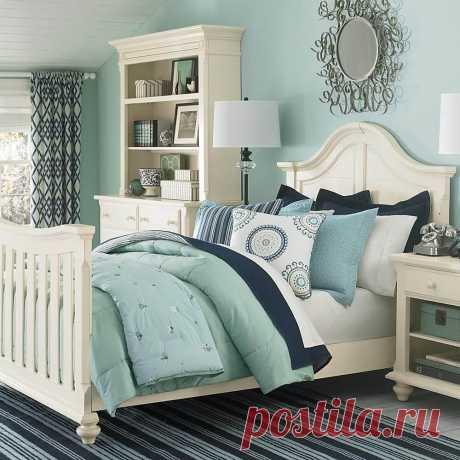Спальня в бирюзовых тонах: 26 идей дизайна ~ ALL-DEKOR