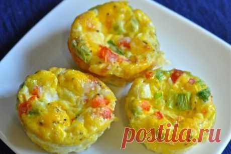 Яичные кексы с ветчиной и сыром, рецепт с фото — Вкусо.ру