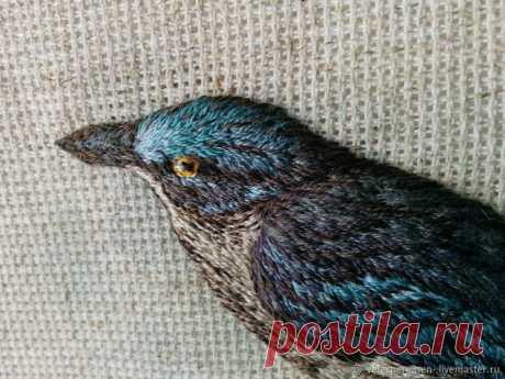 Вышиваем объемную птицу гладью