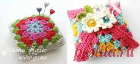 Knitted needle case hook: simple and unusual   Cosiness and heat of my house