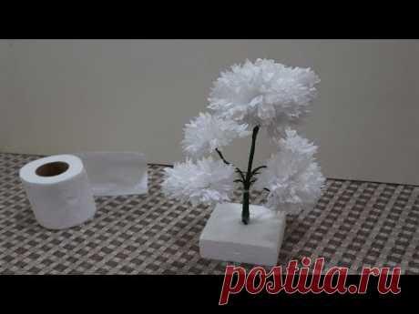 টিস্যু পেপার দিয়ে আকর্ষণীয় ফুল বানানো Turn Tissue Paper into White Flower - Very Easy     ABC Craft