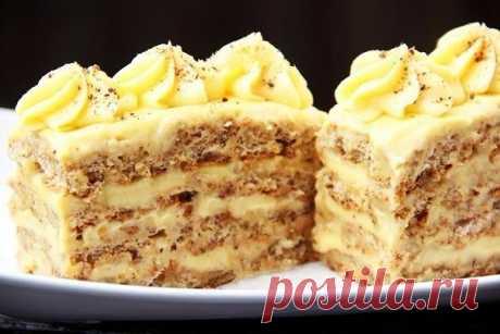 Вкусные ореховые пирожные.
