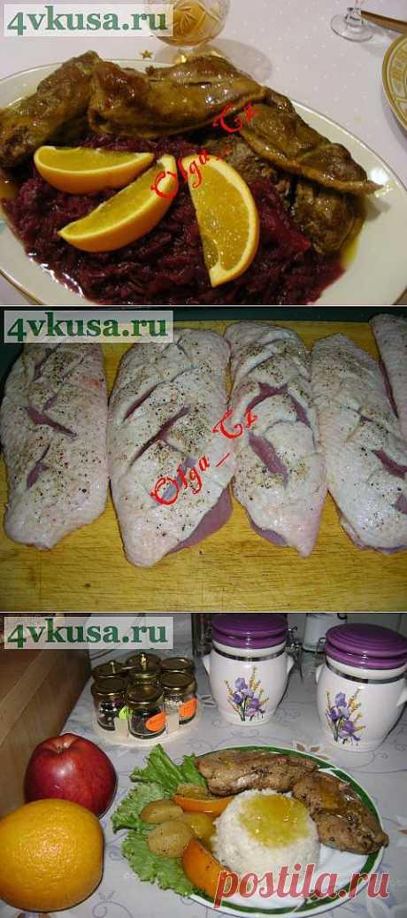 Утиные грудки в золотистом апельсиновом соусе | 4vkusa.ru