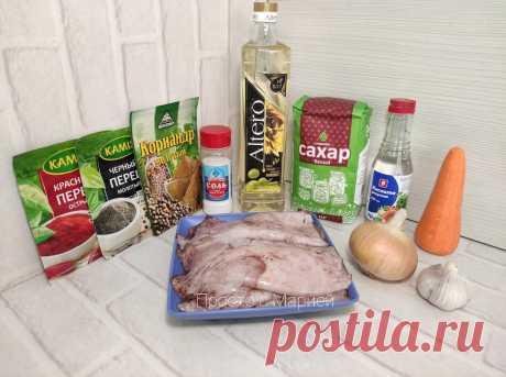 """Закуска из кальмаров (делюсь рецептом, в котором они не будут """"резиновыми"""")   Просто с Марией   Яндекс Дзен"""