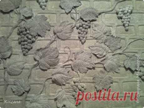 стена на кухне из папье маше   Страна Мастеров