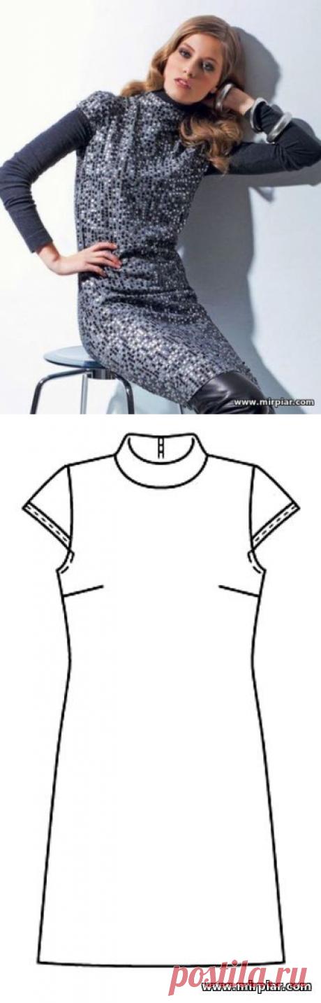 free pattern, платье-футляр, выкройка платья, pattern sewing, выкройки скачать, выкройки платьев, шитье, готовые выкройки, платье, выкройки бесплатно, MirPiar.com