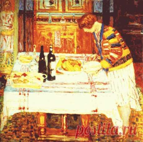 «После еды, 1925»   Пьер Боннар
