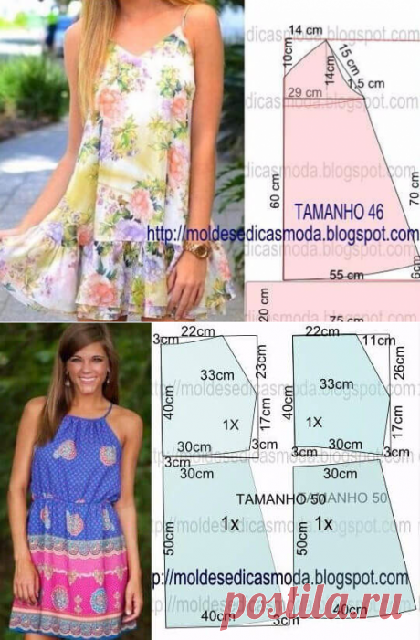 Summer dresses and sundresses with simple patterns. Big selection