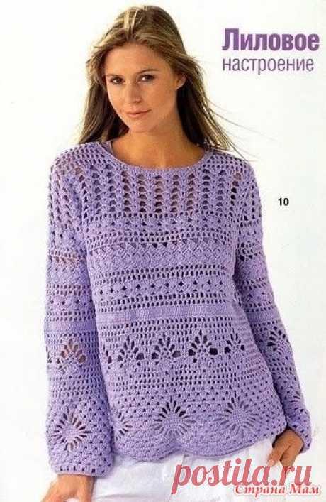 Пуловер крючком - Вязание - Страна Мам