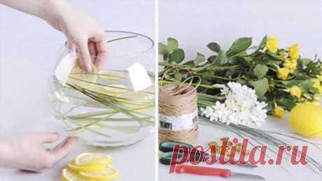 Мастерица взяла в руки стеклянную вазу и немного цветов. Такого эффекта никто не ожидал. Я в восторге! | Офигенная