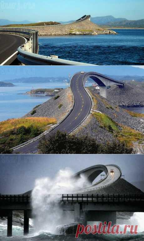 Норвегия: Мост Storseisundet - дорога в никуда... / Мировые Достопримечательности / Мировые достопримечательности. Фото достопримечательностей, идеи для путешествий. Туристический журнал.