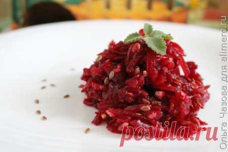 👌 Свекольный салат для очистки организма, рецепты с фото Свекла — очень полезный овощ. Она широко применяется в приготовлении различных домашних блюд и имеет множество полезных свойств. Свекла чистит кровь, помогает при атеросклерозе, бо...