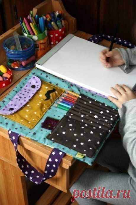 Интересная идейка переносного альбома для маленького художника