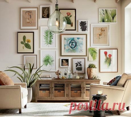 Идеи для интерьера: галерейная стена
