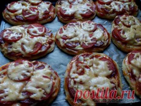 Мини-пиццы и открытый пирог из турецкого теста