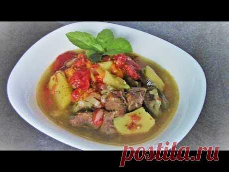 Хашлама с говядиной или овощное рагу с мясом, вкусно так, что за уши не оттащишь!