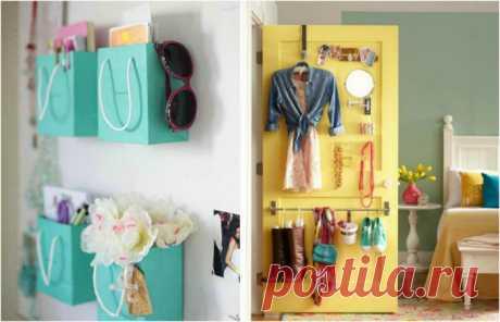 17 вдохновляющих идей организации пространства и хранения вещей в маленькой спальне