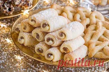 Ореховые трубочки с орехами