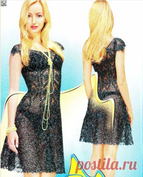 Чудесное платье / Вязание крючком / Женская одежда крючком. Схемы и описание