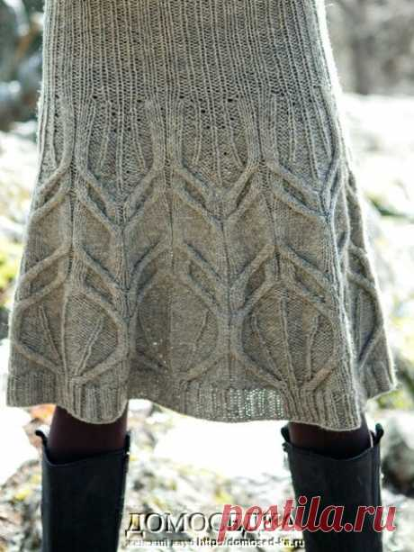 Красивая вязаная юбка спицами   ДОМОСЕДКА
