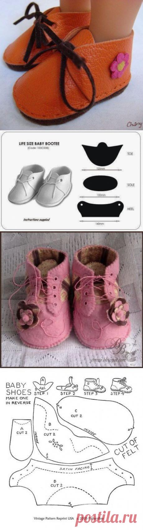 Выкройки обуви для куколок